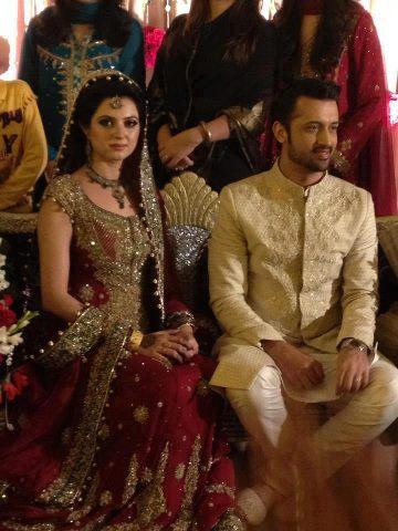 Atif aslam sara wedding images