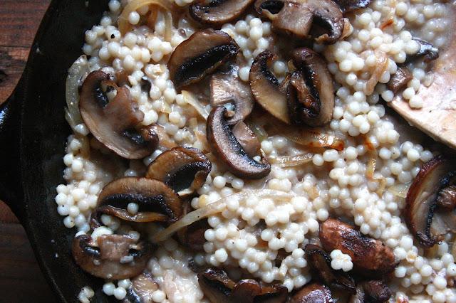 Creamy Mushroom and Israeli Couscous
