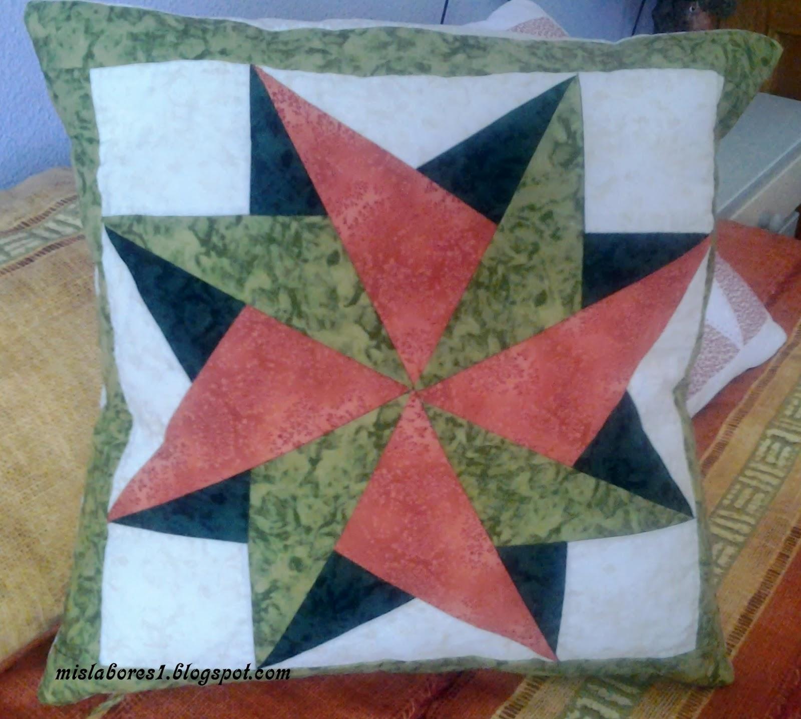 Mis labores cojines de patchwork - Cojines de patchwork ...