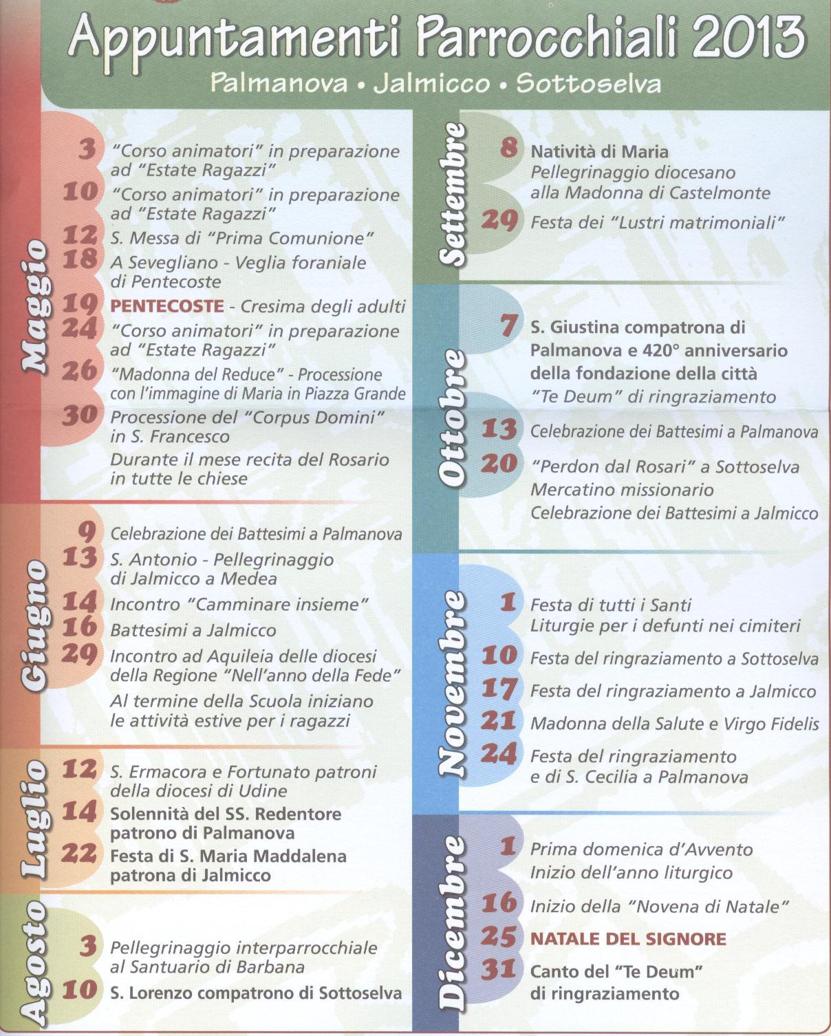 Palmanova googlenews dicembre 2012 - Colorazione pagine palma domenica ...