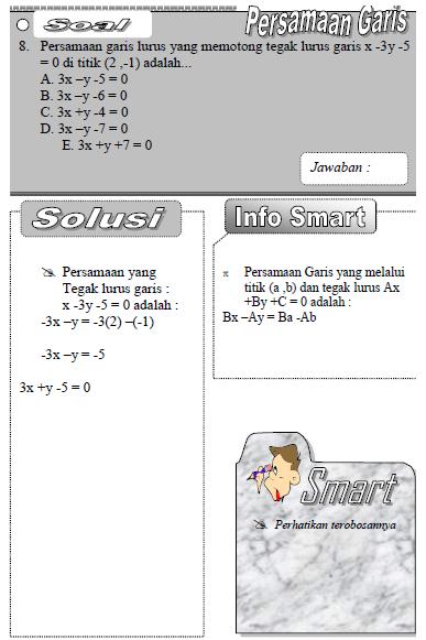 contoh rumus persamaan garis