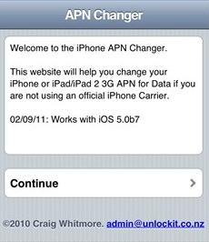 Change iPhone APN Setting for Iphone 4, 5