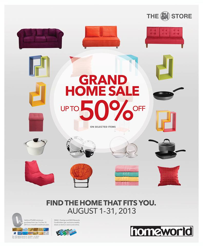 The Great SM HomeWorld   Our Home SALE  Aug 2013. Manila Shopper  The Great SM HomeWorld   Our Home SALE  Aug 2013