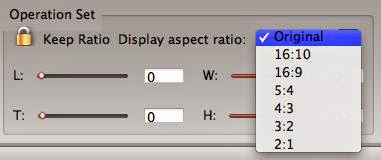 Choose aspect ratio