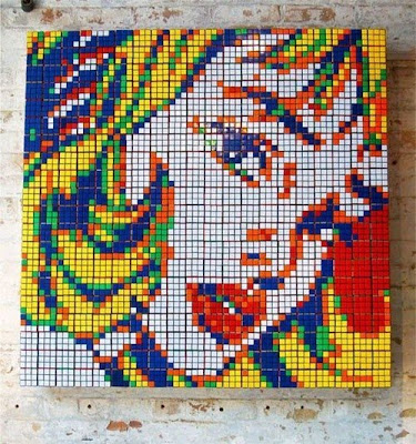 Pictures Made By Rubik's Cube