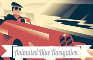 Animated Blue Navigation