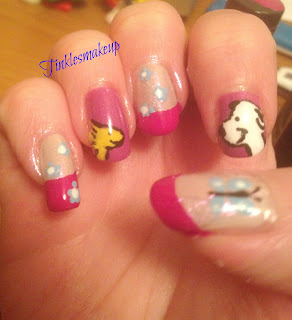 snoopy_and_woodstock_nail_art
