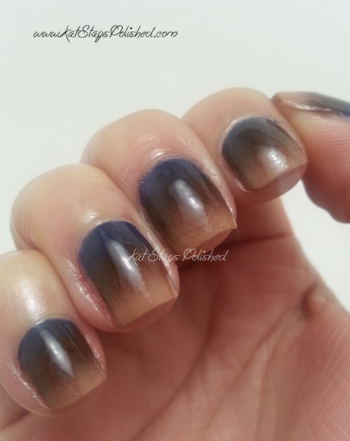 Zoya Flynn, Louise, Sailor - gradient nails