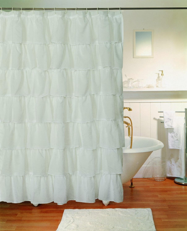 fabulous fun finds ruffle shower curtains