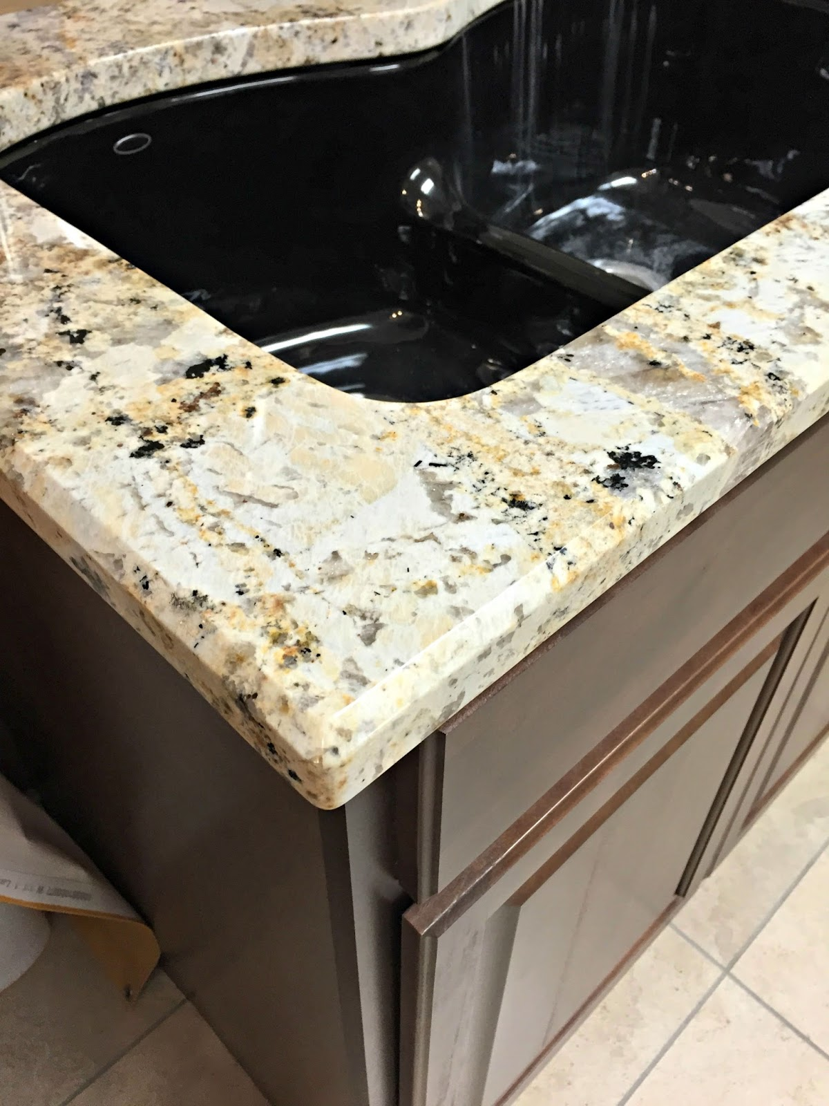 Our beautiful river white granite countertops from for 1 inch granite countertops