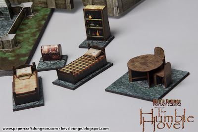 Papercraft 3d dungeon furniture