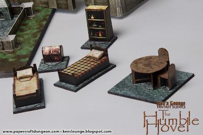Papercraft 3d dungeon furniture