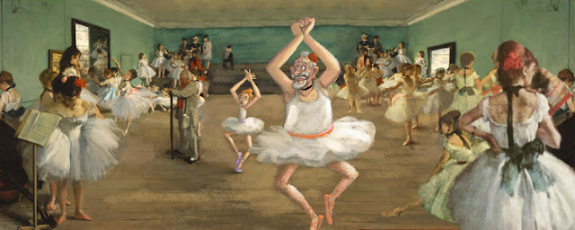 art story animated film, degas painting