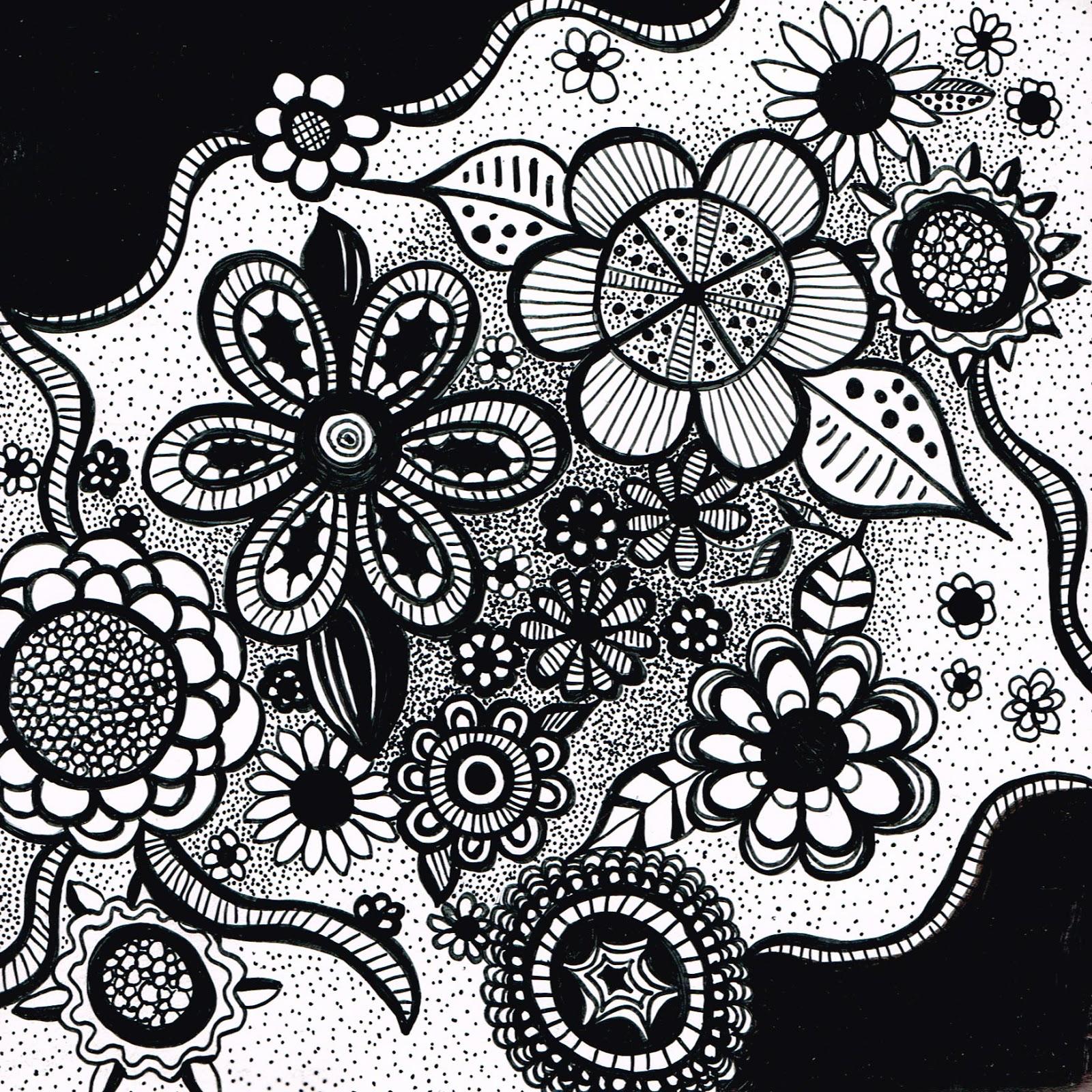 The sketchbook challenge floral doodle do - Doodle dessin ...