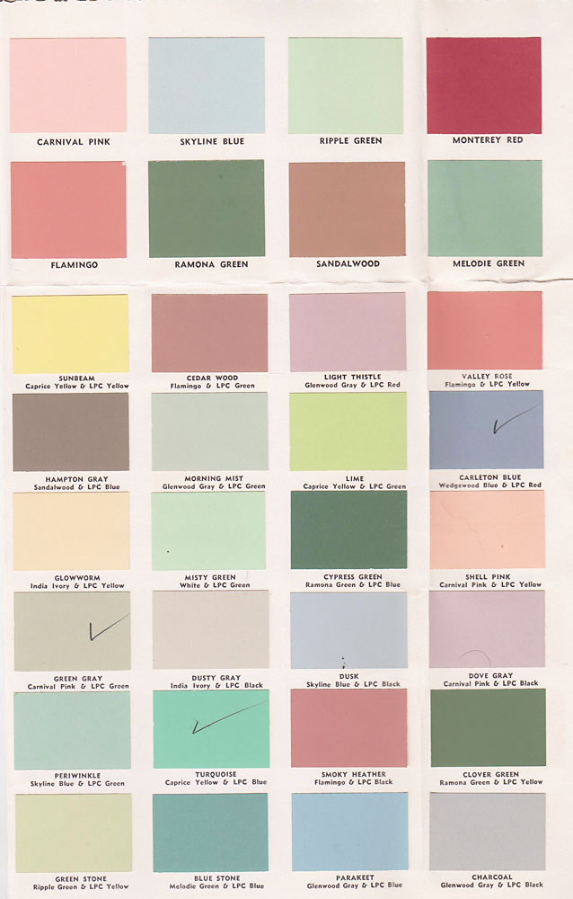 vintage goodness 1 0 vintage decorating 1950 39 s paint color chip brochures. Black Bedroom Furniture Sets. Home Design Ideas