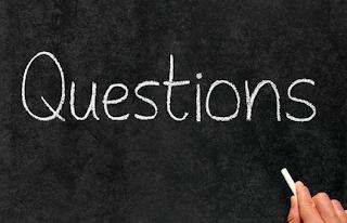 The word questions written on a chalkboard