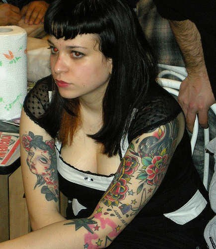 Arm tattoo designs for girls about lady for Upper arm tattoos for girls