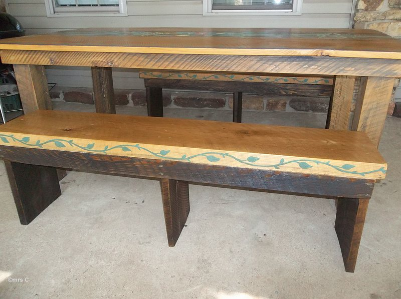 how to build a pine harvest table
