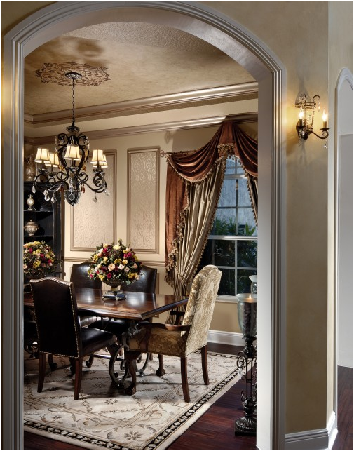 Traditional dining room design ideas simple home for Traditional dining room designs