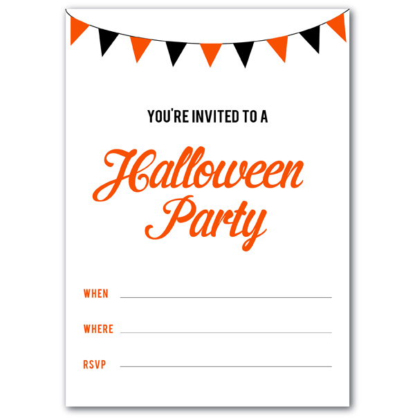 free printable Halloween party invitations (via Holly Would)