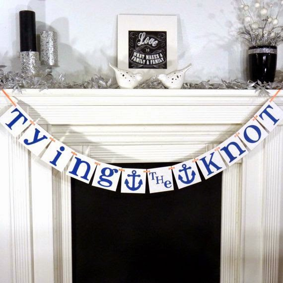 nautical wedding banner