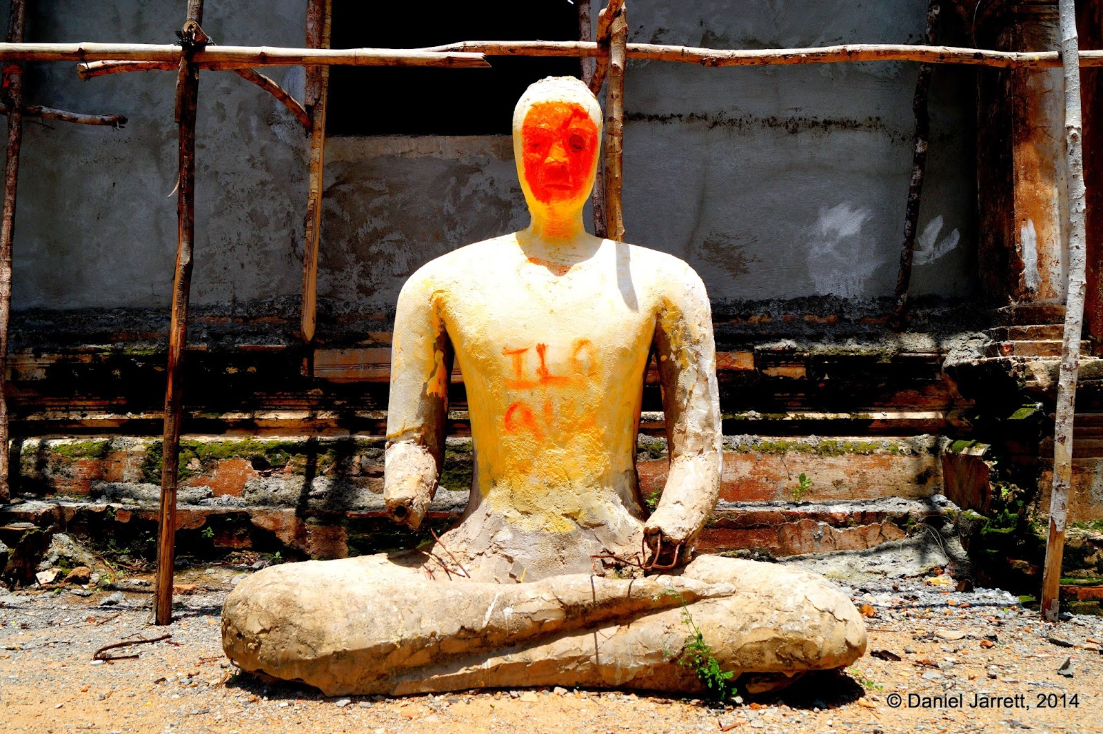 Statue, Phnom Oudong, Cambodia
