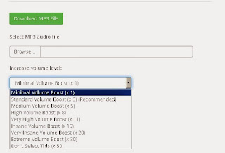 increase the volume of your mp3 files online