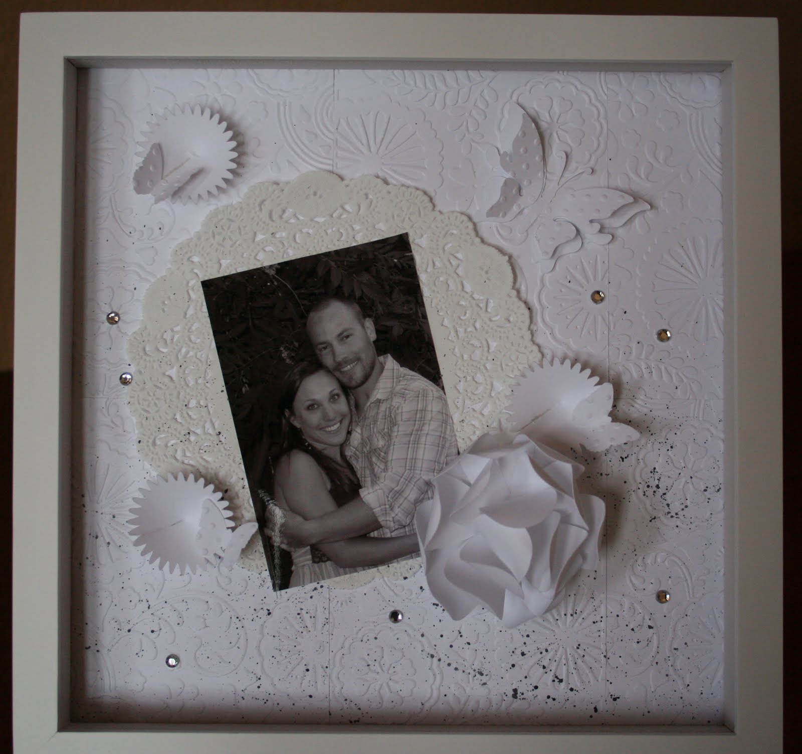 Wedding Gift Shadow Box : For The Joy of Creating: Wedding Gift Shadow Box