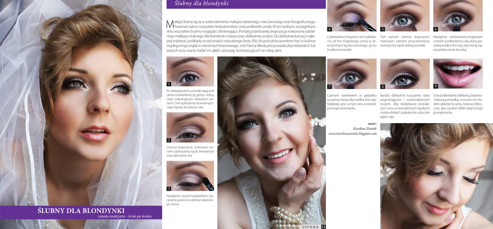 Karolina Zientek Makeup Blog Makijaż ślubny Dla Blondynki