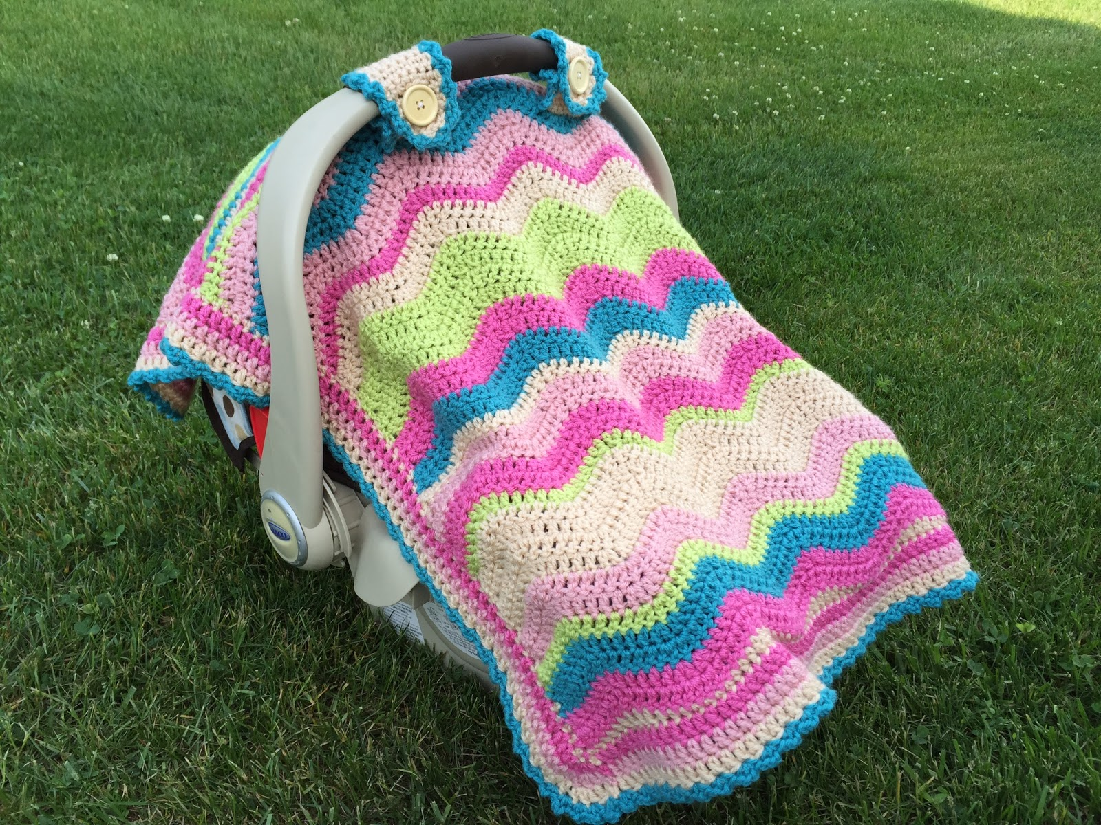 Skein And Hook Pattern Release Emerson Car Seat Cover Or Blanket