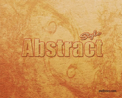 Create Soft Bevel Text Effect with Abstract Background