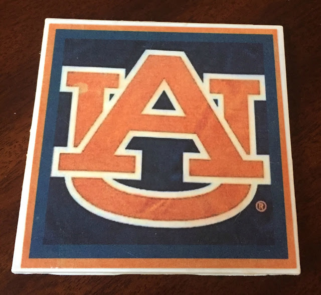 Coaster design with Auburn logo