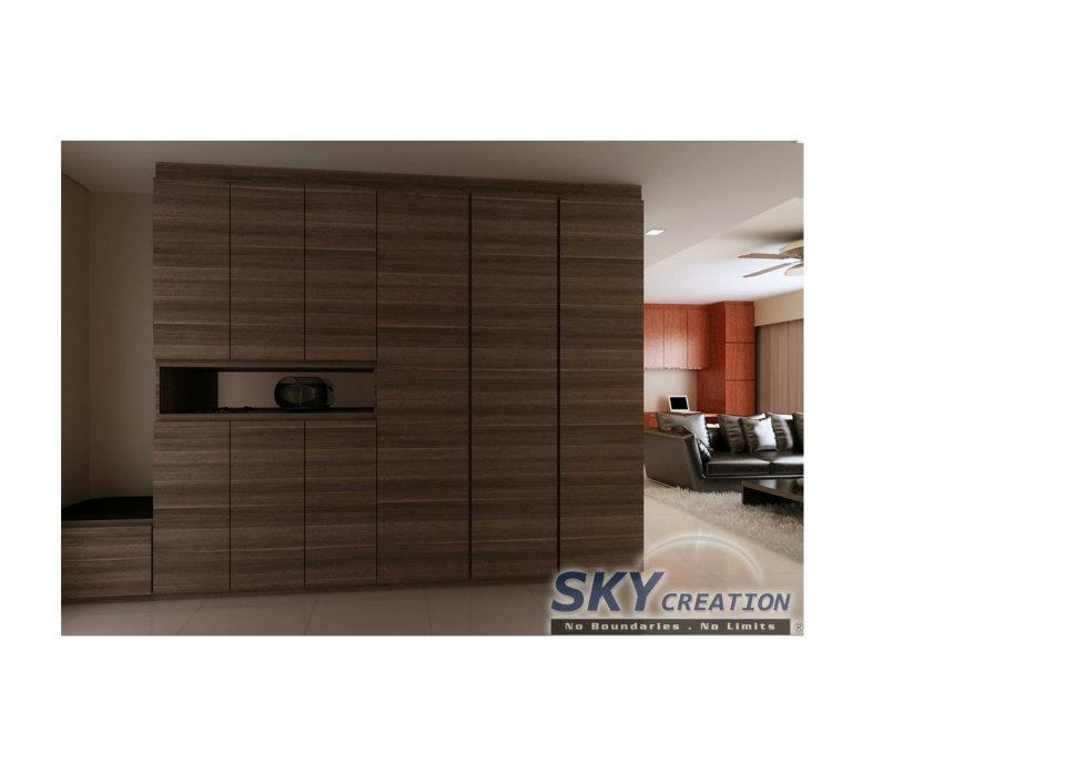 Attrayant Interior Design   Full Height Cabinet With Recess Area