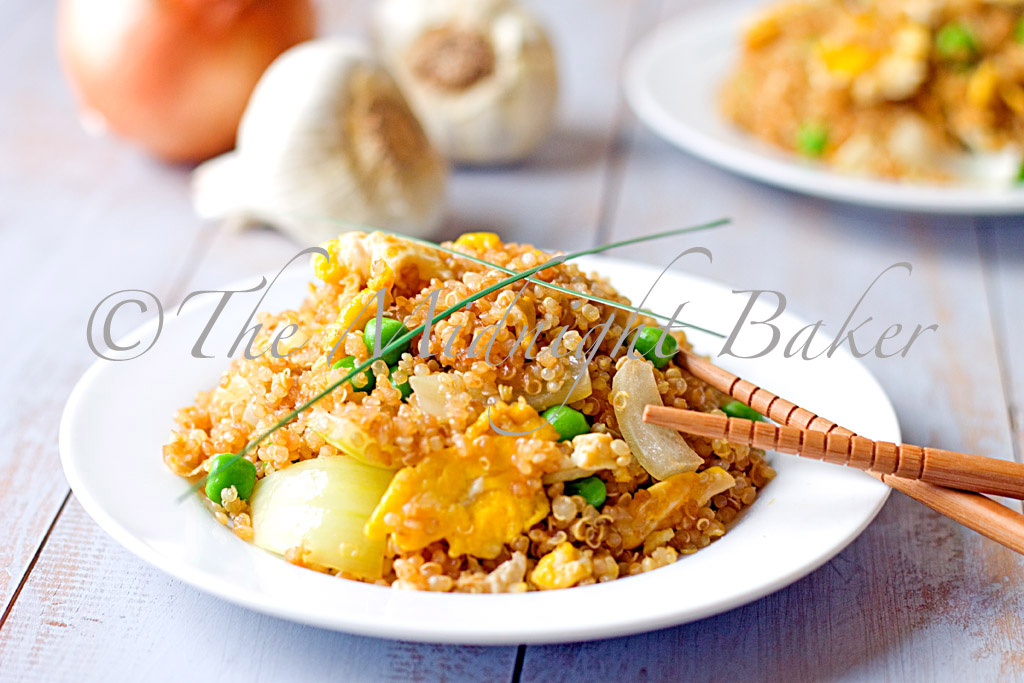 "The Midnight Baker: Quinoa Fried ""Rice"""
