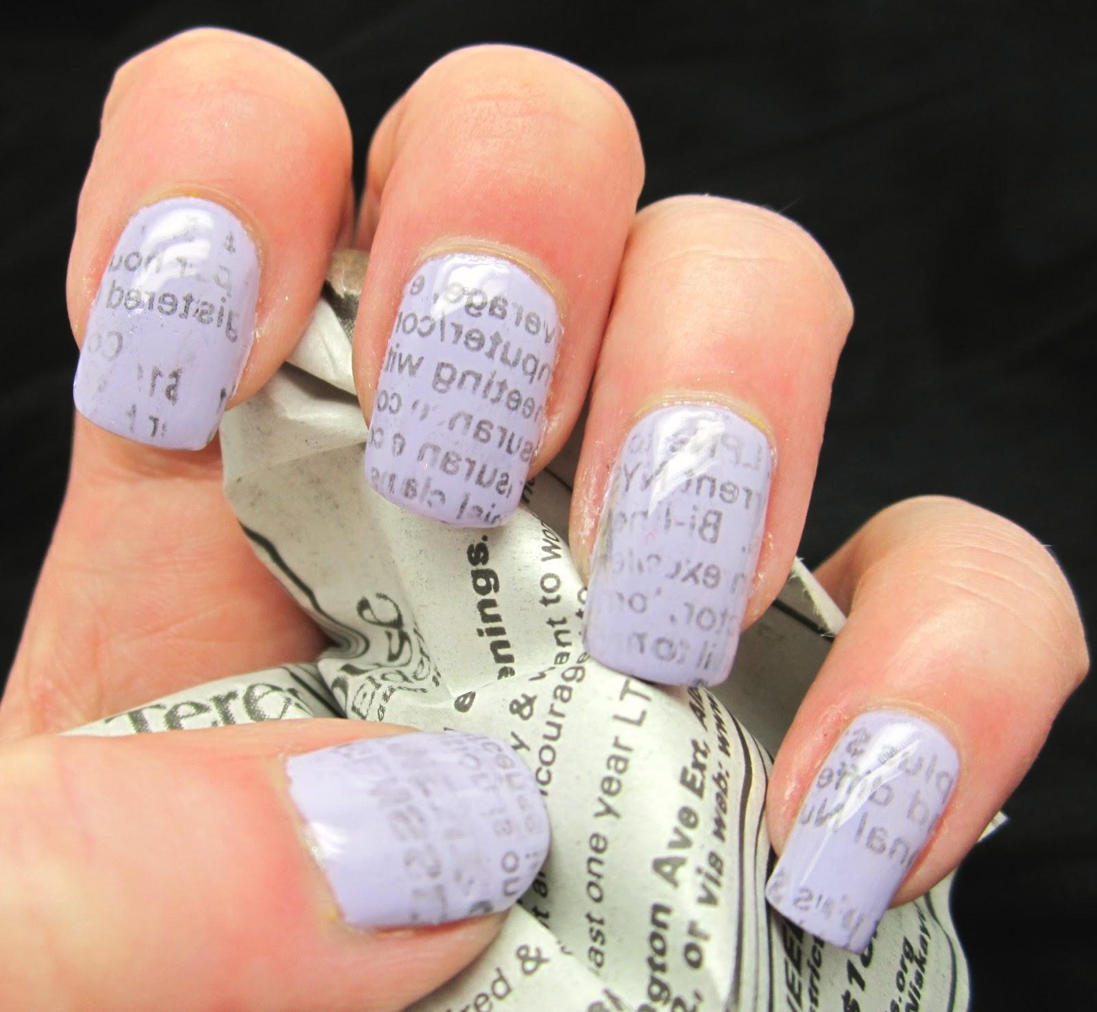 Creative Nail Design by Sue: ASBMF #13-Newspaper Gal