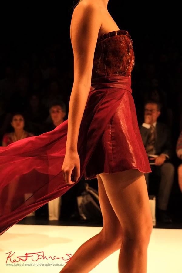 Natalie Cheung; red dress detail - New Byzantium : Raffles Graduate Fashion Parade 2013 - Photography by Kent Johnson.