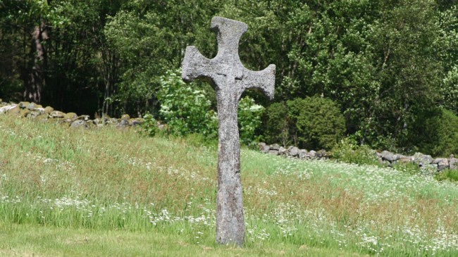 Norwegian stone cross