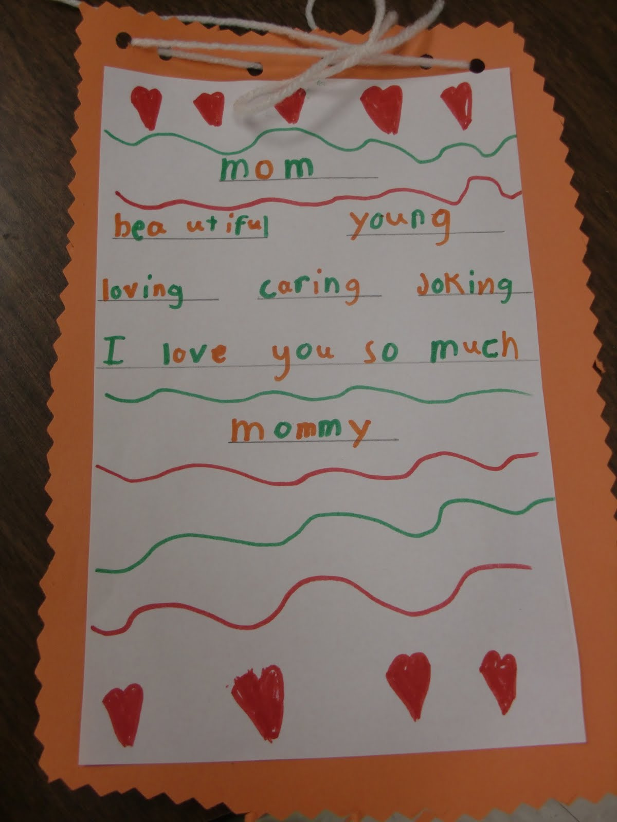 Dear Mom Poem Mother's day poems