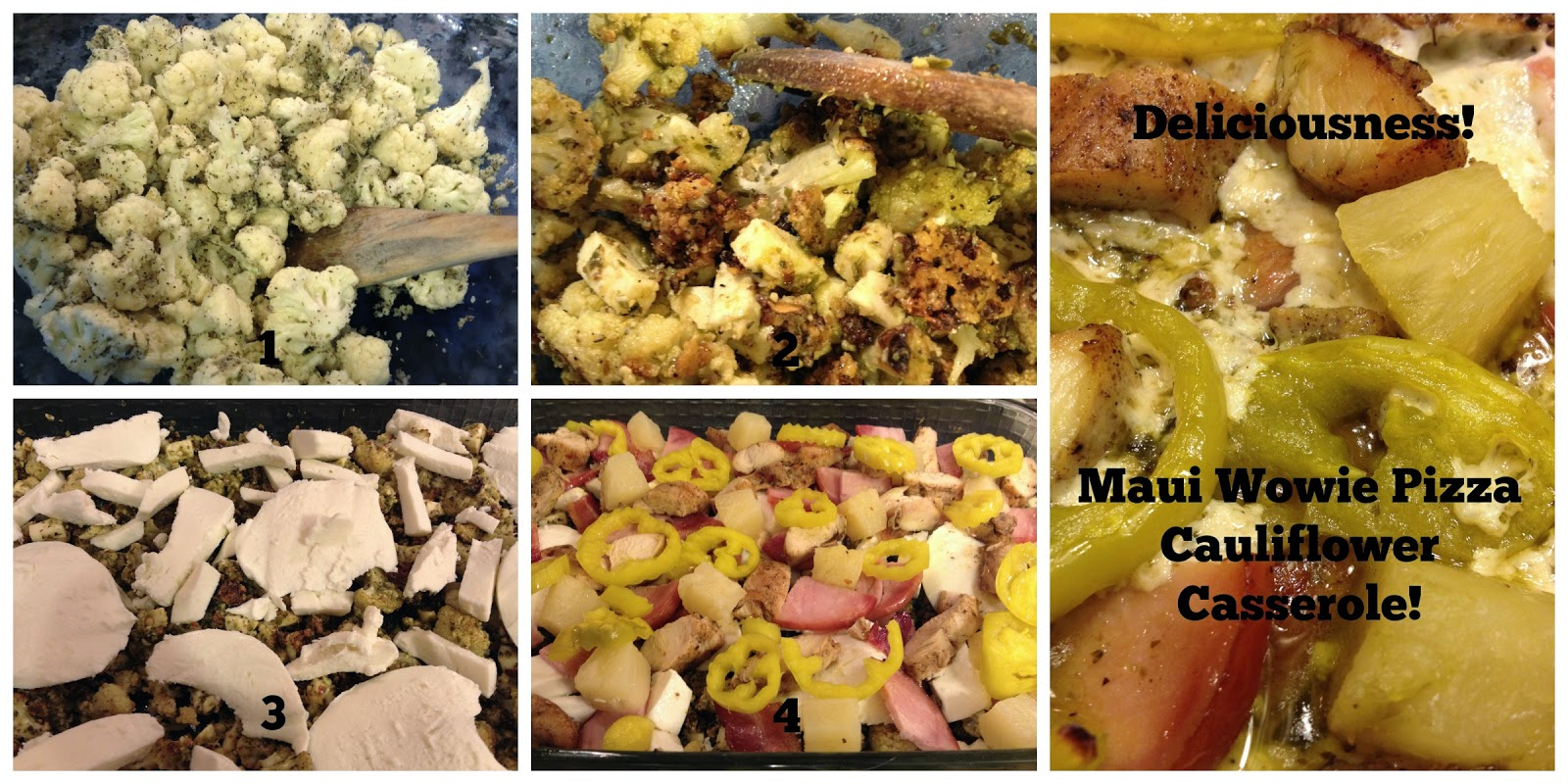 Mellow Mushroom Copycat Maui Wowie Chicken Pizza Cauliflower Casserole ...