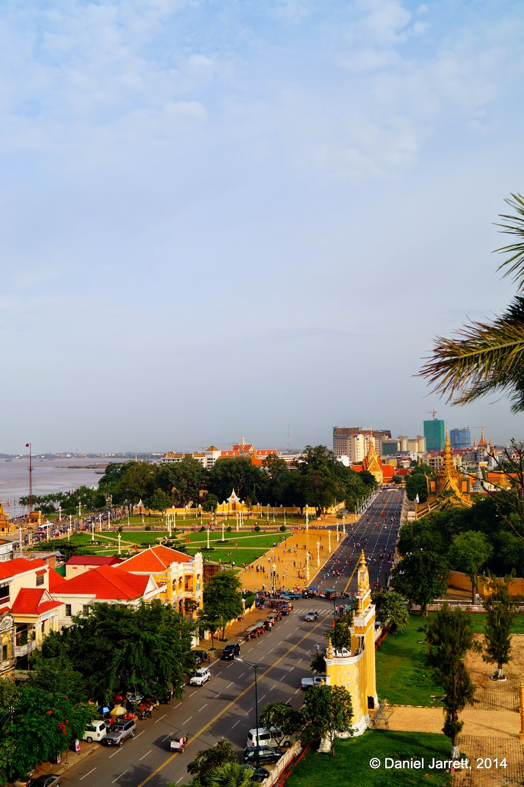 View towards Royal Palace Park, Phnom Penh, Cambodia