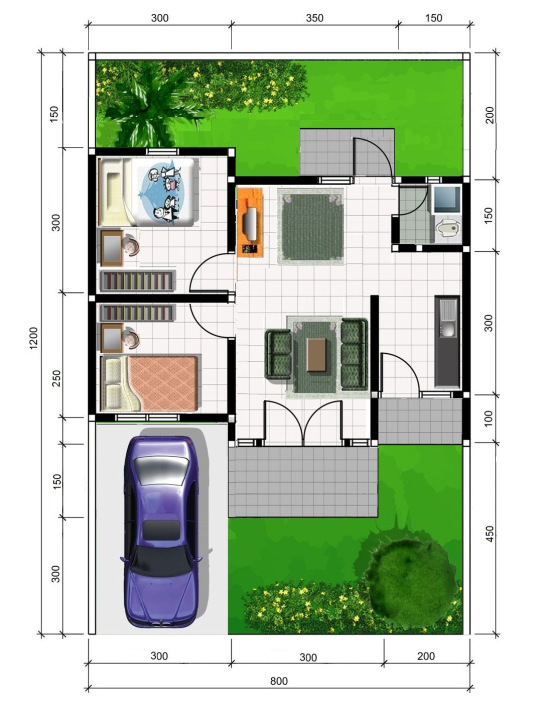 design arsitektur denah 2d rumah sederhana design