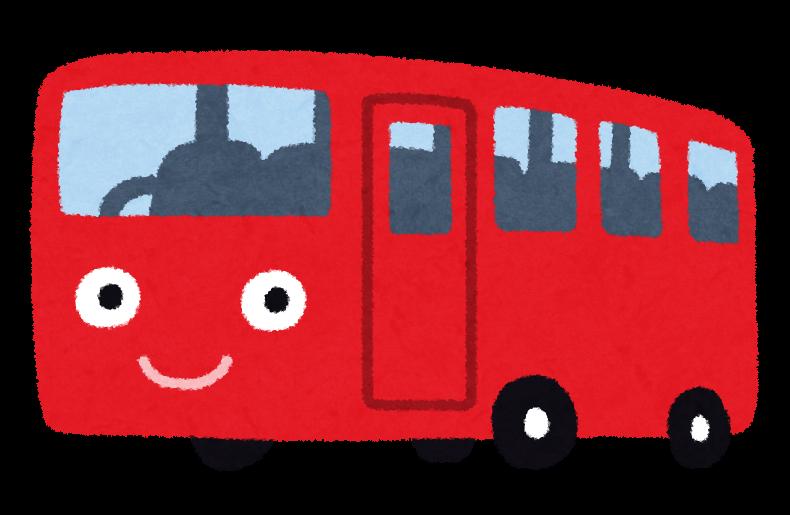 赤いバスのイラスト