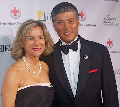 Jeff and Nina Sakaguchi. Jeff is the Chairman of the Board of Directors for the American Red Cross Los Angeles Chapter