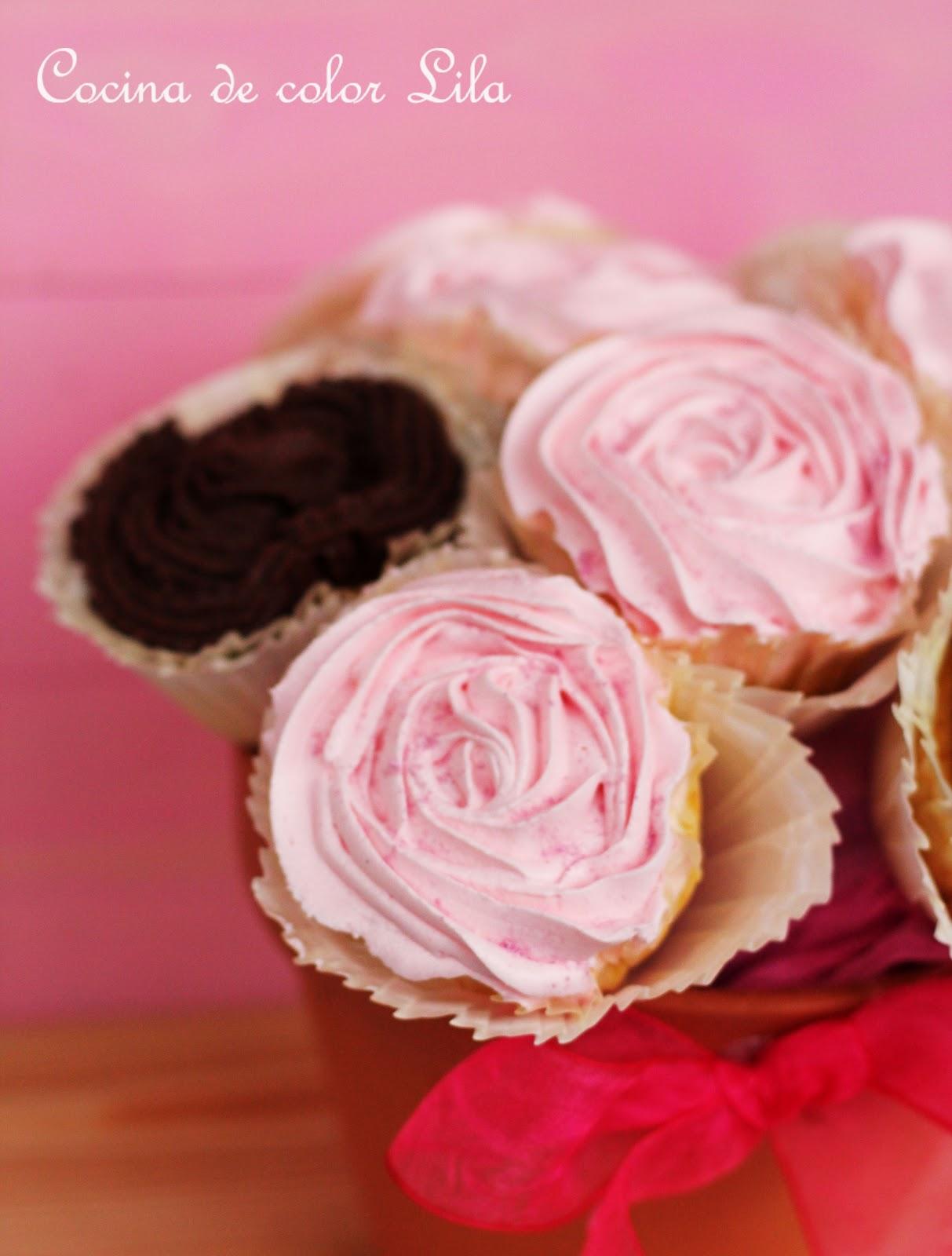 Cocina de color lila maceta de cupcakes - Cocina color lila ...