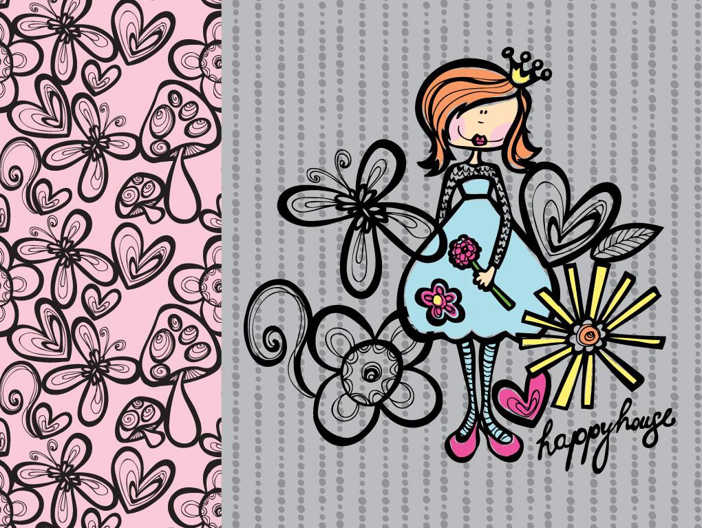Iheartprintsandpatterns  Happy House Wallpapers