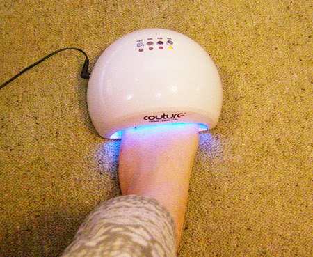 Couture Gel Nail Polish light on foot