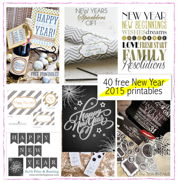 40 free printable new years printables silvester druckvorlagen freebie