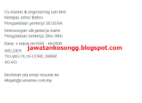 CS Marine And Engineering Kerja Kosong