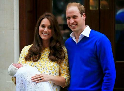William dan Kate tampil bersama bayi perempuan mereka