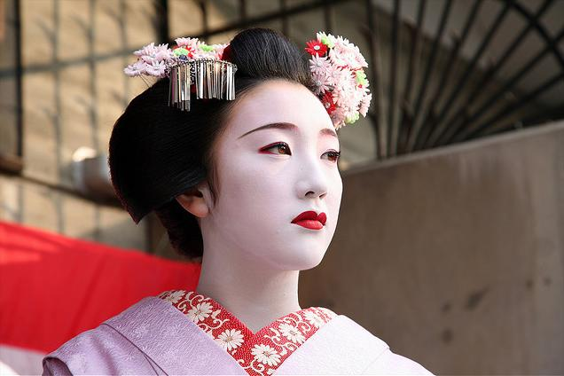 gelled hairstyles : Traditional Geisha Hairstyles Gils info: geisha